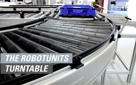 The Robotunits Turntable - stepless turning range, individually configurable